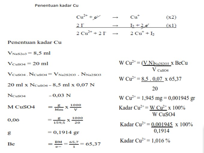 Oxidimetry Problems and Discussion (Analytical Chemistry)
